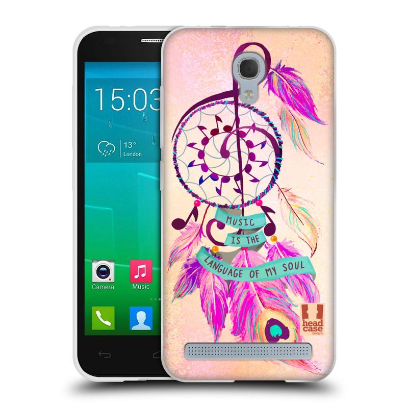 Silikonové pouzdro na mobil Alcatel One Touch Idol 2 Mini S 6036Y HEAD CASE Lapač Assorted Music (Silikonový kryt či obal na mobilní telefon Alcatel Idol 2 Mini S OT-6036Y)
