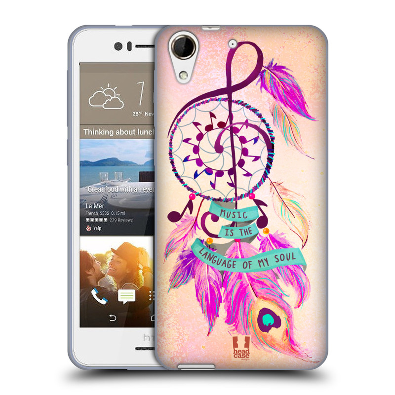 Silikonové pouzdro na mobil HTC Desire 728G Dual SIM HEAD CASE Lapač Assorted Music (Silikonový kryt či obal na mobilní telefon HTC Desire 728 G Dual SIM)
