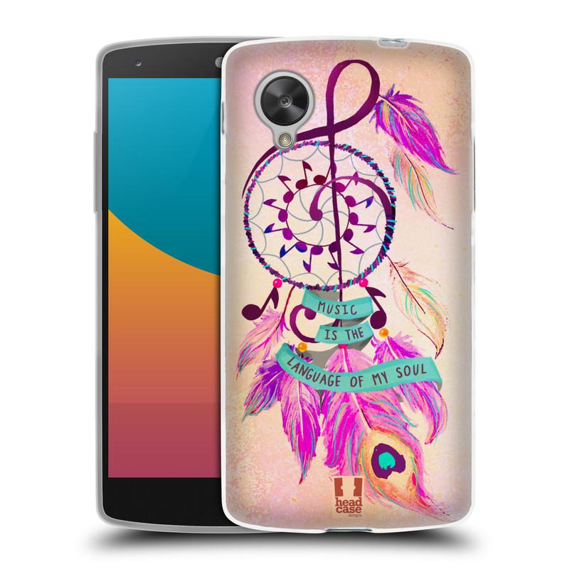 Silikonové pouzdro na mobil LG Nexus 5 HEAD CASE Lapač Assorted Music (Silikonový kryt či obal na mobilní telefon LG Google Nexus 5 D821)