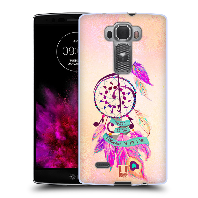 Silikonové pouzdro na mobil LG G Flex 2 HEAD CASE Lapač Assorted Music (Silikonový kryt či obal na mobilní telefon LG G Flex 2 H955)