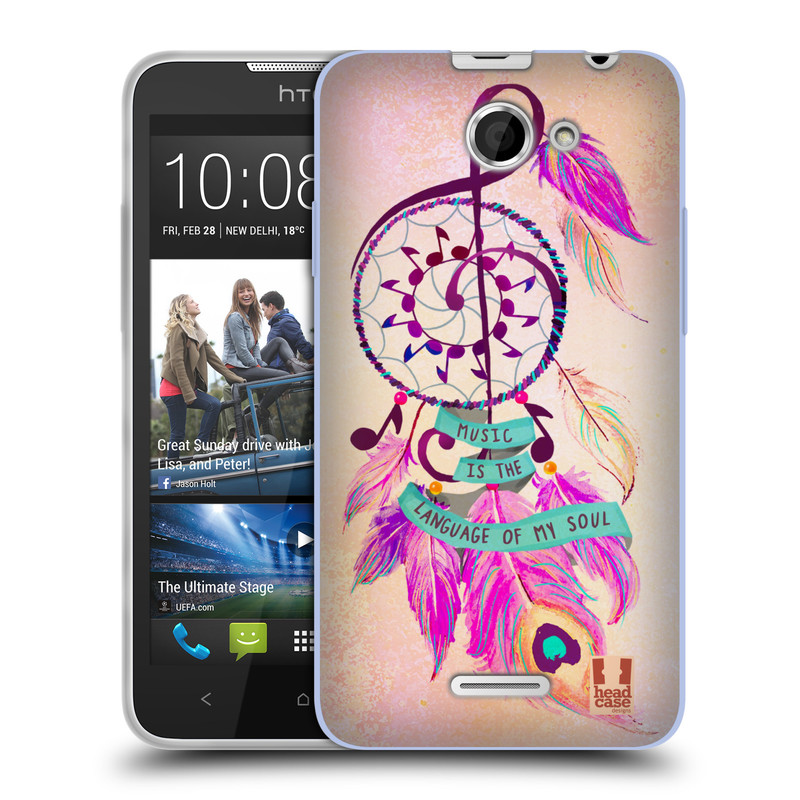 Silikonové pouzdro na mobil HTC Desire 516 HEAD CASE Lapač Assorted Music (Silikonový kryt či obal na mobilní telefon HTC Desire 516 Dual SIM)