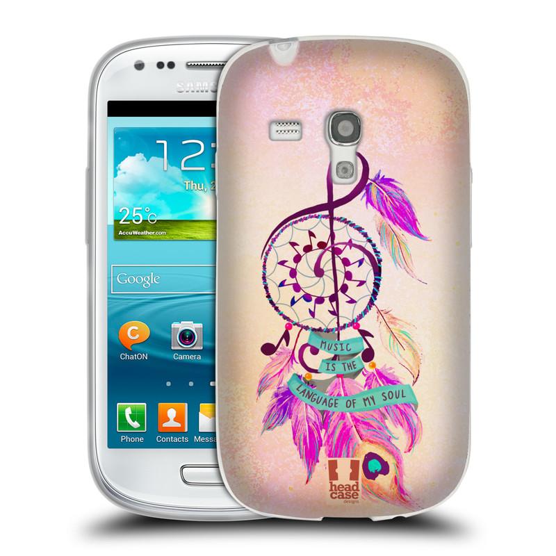 Silikonové pouzdro na mobil Samsung Galaxy S III Mini HEAD CASE Lapač Assorted Music (Silikonový kryt či obal na mobilní telefon Samsung Galaxy S III Mini GT-i8190)