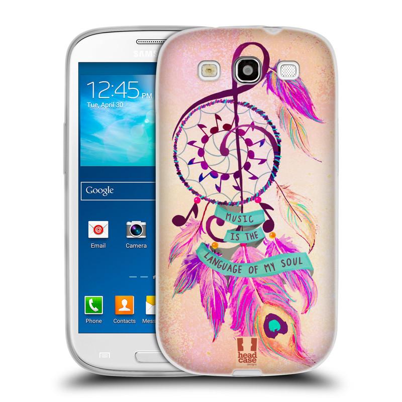 Silikonové pouzdro na mobil Samsung Galaxy S III HEAD CASE Lapač Assorted Music (Silikonový kryt či obal na mobilní telefon Samsung Galaxy S III GT-i9300)