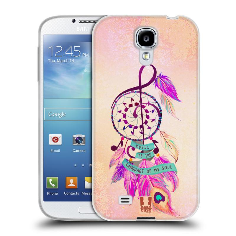 Silikonové pouzdro na mobil Samsung Galaxy S4 HEAD CASE Lapač Assorted Music (Silikonový kryt či obal na mobilní telefon Samsung Galaxy S4 GT-i9505 / i9500)