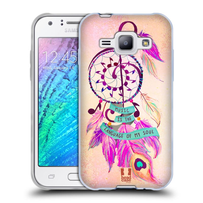 Silikonové pouzdro na mobil Samsung Galaxy J1 HEAD CASE Lapač Assorted Music (Silikonový kryt či obal na mobilní telefon Samsung Galaxy J1 a J1 Duos)