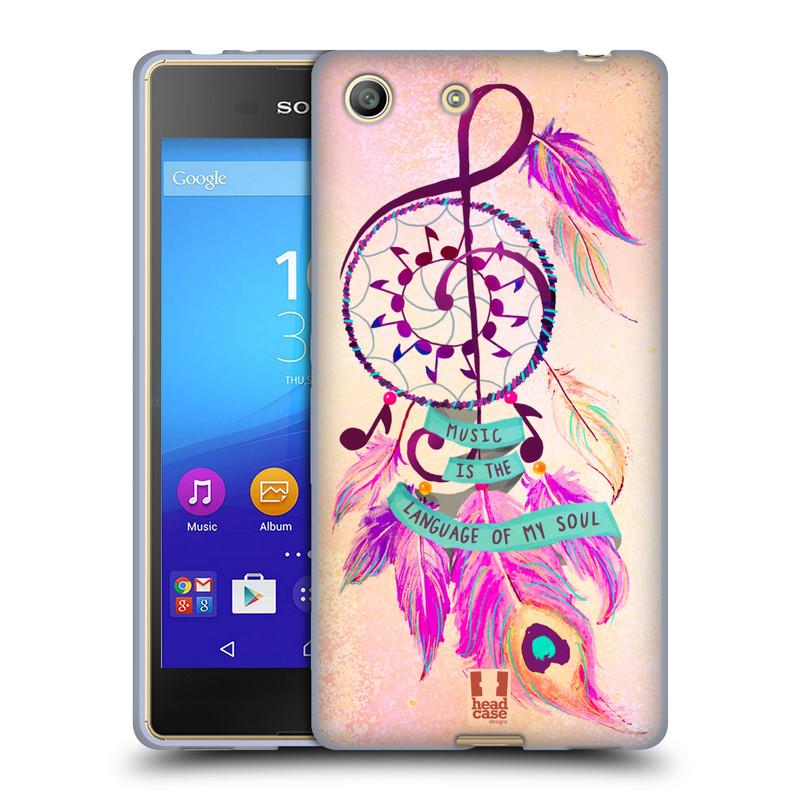 Silikonové pouzdro na mobil Sony Xperia M5 HEAD CASE Lapač Assorted Music (Silikonový kryt či obal na mobilní telefon Sony Xperia M5 Dual SIM / Aqua)