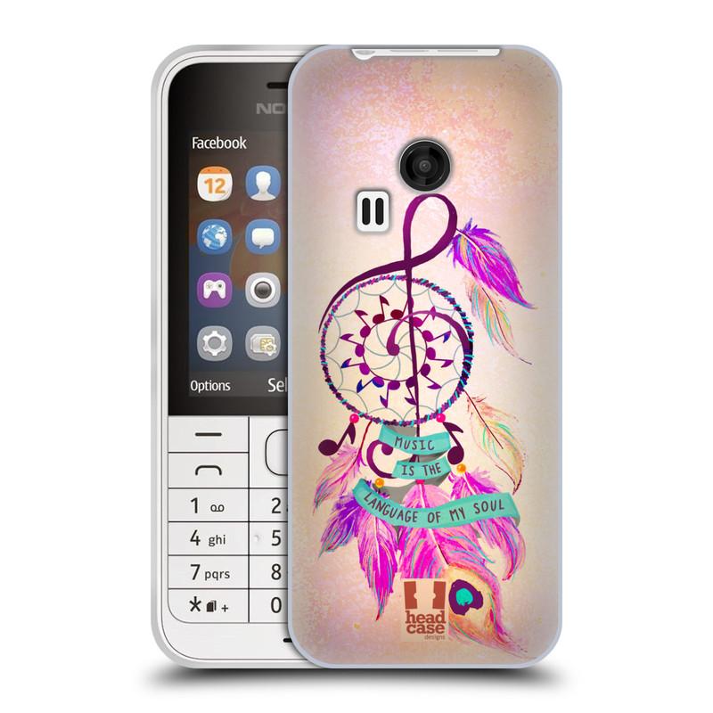 Silikonové pouzdro na mobil Nokia 220 HEAD CASE Lapač Assorted Music (Silikonový kryt či obal na mobilní telefon Nokia 220 a 220 Dual SIM)