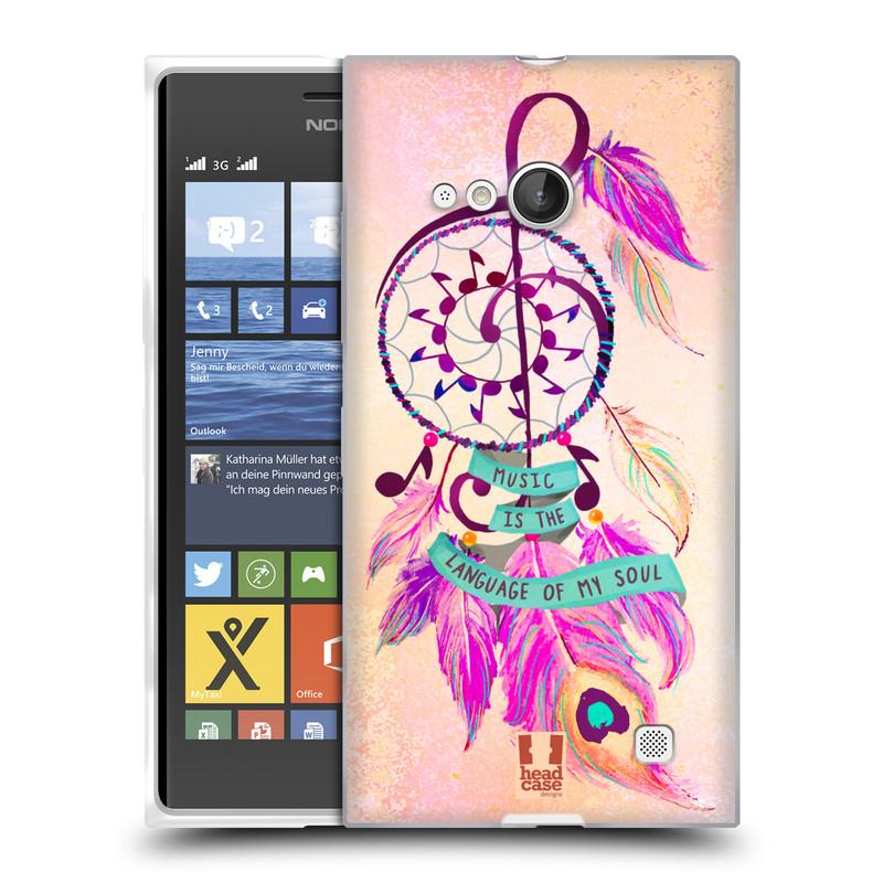 Silikonové pouzdro na mobil Nokia Lumia 730 Dual SIM HEAD CASE Lapač Assorted Music (Silikonový kryt či obal na mobilní telefon Nokia Lumia 730 Dual SIM)