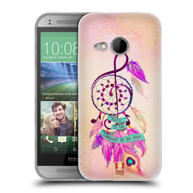 Silikonové pouzdro na mobil HTC ONE Mini 2 HEAD CASE Lapač Assorted Music (Silikonový kryt či obal na mobilní telefon HTC ONE Mini 2)