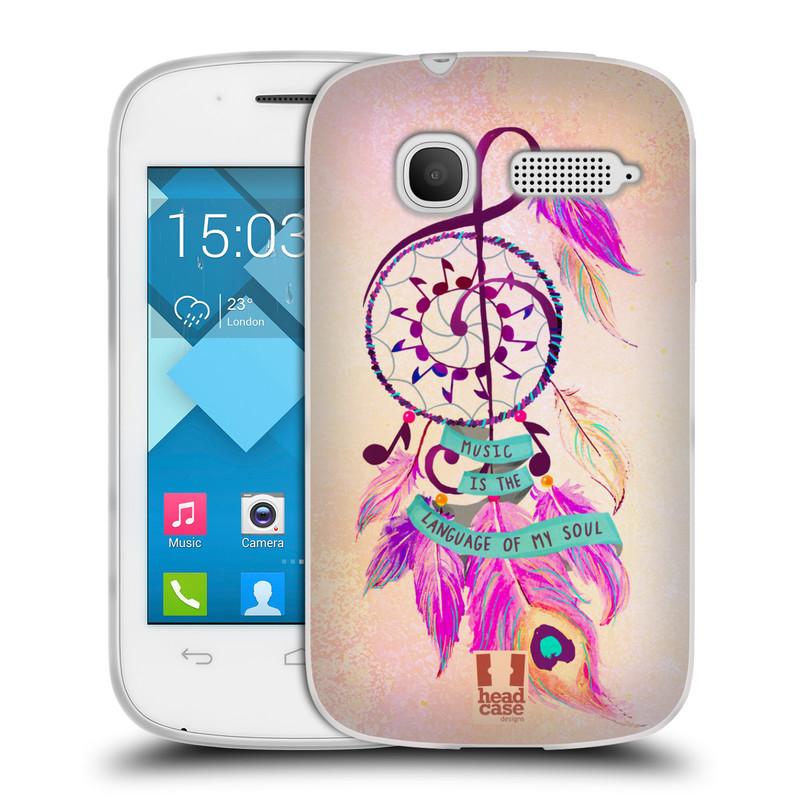 Silikonové pouzdro na mobil Alcatel One Touch Pop C1 HEAD CASE Lapač Assorted Music (Silikonový kryt či obal na mobilní telefon Alcatel OT-4015D POP C1)