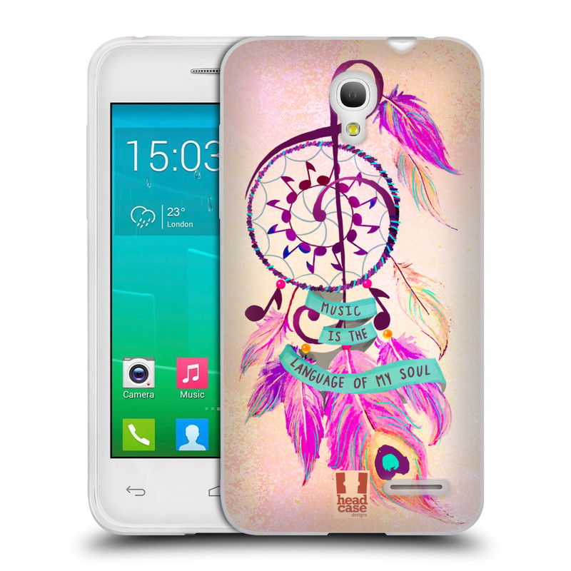 Silikonové pouzdro na mobil Alcatel One Touch Pop S3 HEAD CASE Lapač Assorted Music (Silikonový kryt či obal na mobilní telefon Alcatel OT- 5050Y POP S3)