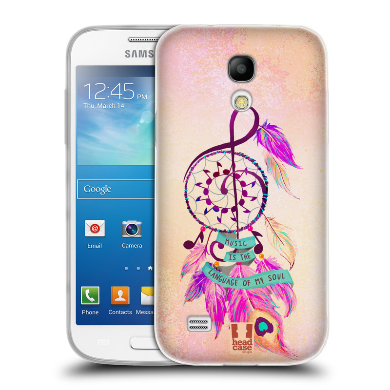 Silikonové pouzdro na mobil Samsung Galaxy S4 Mini HEAD CASE Lapač Assorted Music (Silikonový kryt či obal na mobilní telefon Samsung Galaxy S4 Mini GT-i9195 / i9190)
