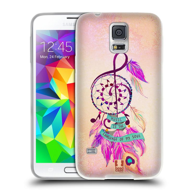 Silikonové pouzdro na mobil Samsung Galaxy S5 HEAD CASE Lapač Assorted Music (Silikonový kryt či obal na mobilní telefon Samsung Galaxy S5 SM-G900F)