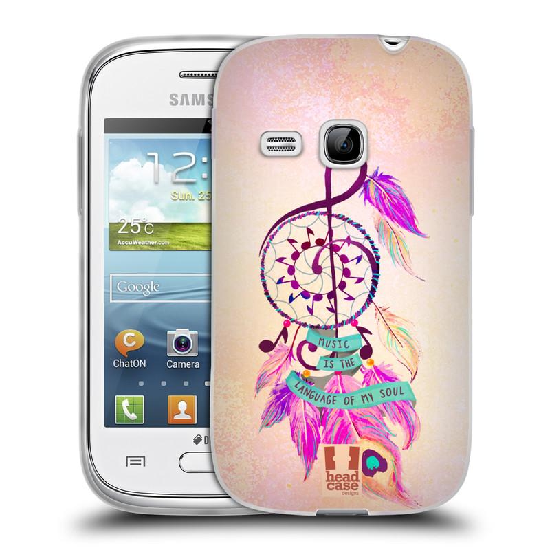Silikonové pouzdro na mobil Samsung Galaxy Young HEAD CASE Lapač Assorted Music (Silikonový kryt či obal na mobilní telefon Samsung Galaxy Young GT-S6310)