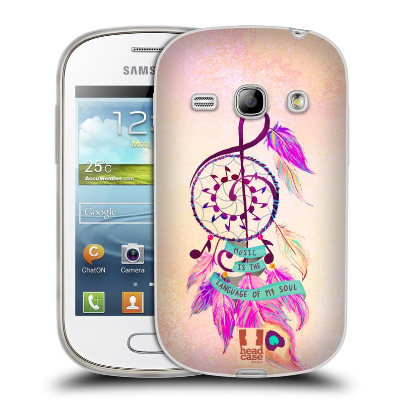 Silikonové pouzdro na mobil Samsung Galaxy Fame HEAD CASE Lapač Assorted Music (Silikonový kryt či obal na mobilní telefon Samsung Galaxy Fame GT-S6810)