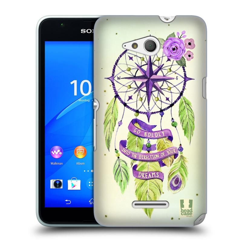 Plastové pouzdro na mobil Sony Xperia E4g E2003 HEAD CASE Lapač Assorted Compass (Kryt či obal na mobilní telefon Sony Xperia E4g a E4g Dual SIM)
