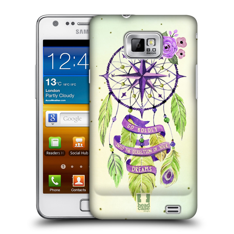 Plastové pouzdro na mobil Samsung Galaxy S II HEAD CASE Lapač Assorted Compass (Kryt či obal na mobilní telefon Samsung Galaxy S II GT-i9100)