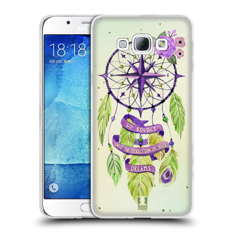 Silikonové pouzdro na mobil Samsung Galaxy A8 HEAD CASE Lapač Assorted Compass (Silikonový kryt či obal na mobilní telefon Samsung Galaxy A8 SM-A800)