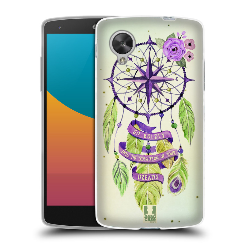 Silikonové pouzdro na mobil LG Nexus 5 HEAD CASE Lapač Assorted Compass (Silikonový kryt či obal na mobilní telefon LG Google Nexus 5 D821)