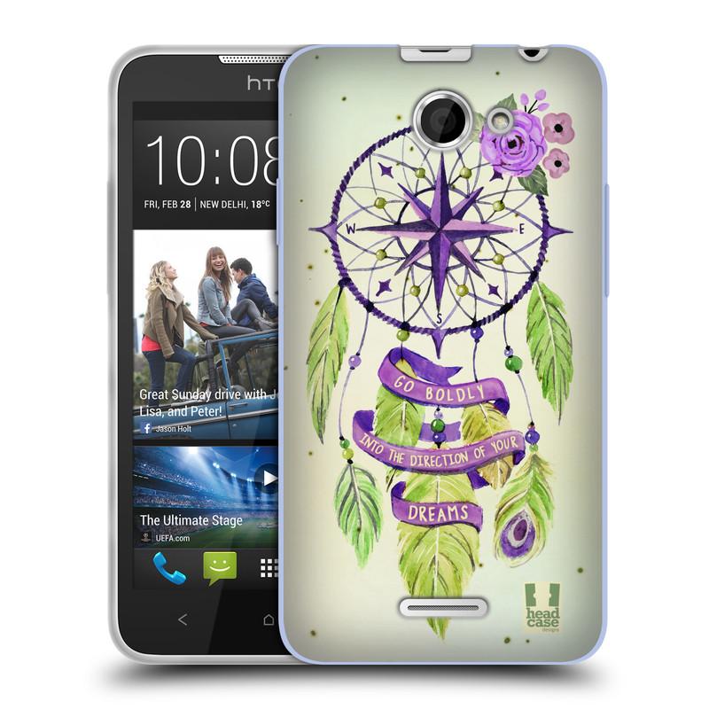 Silikonové pouzdro na mobil HTC Desire 516 HEAD CASE Lapač Assorted Compass (Silikonový kryt či obal na mobilní telefon HTC Desire 516 Dual SIM)