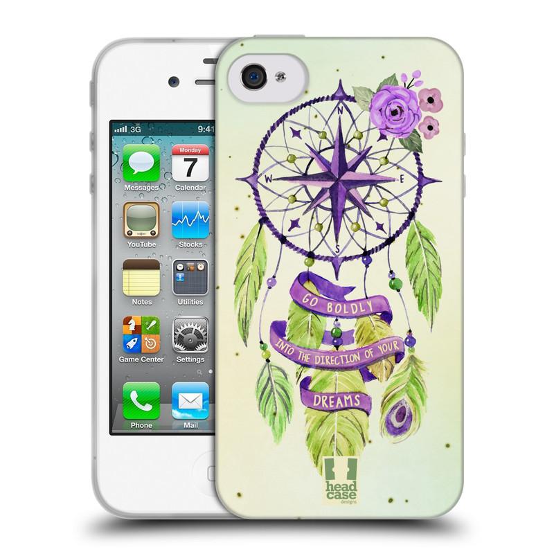 Silikonové pouzdro na mobil Apple iPhone 4 a 4S HEAD CASE Lapač Assorted Compass (Silikonový kryt či obal na mobilní telefon Apple iPhone 4 a 4S)