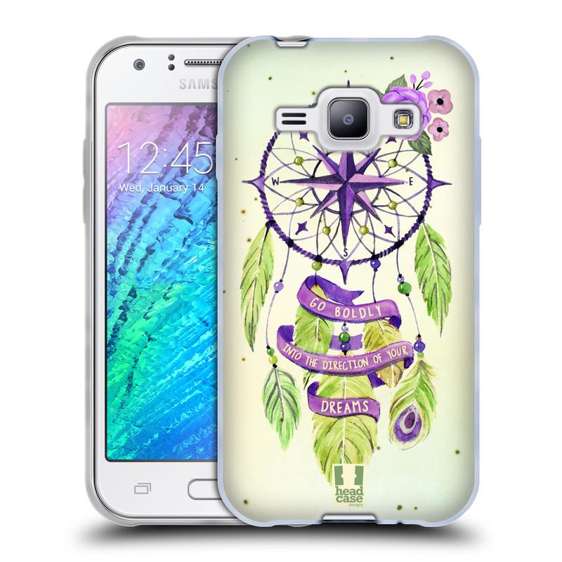 Silikonové pouzdro na mobil Samsung Galaxy J1 HEAD CASE Lapač Assorted Compass (Silikonový kryt či obal na mobilní telefon Samsung Galaxy J1 a J1 Duos)