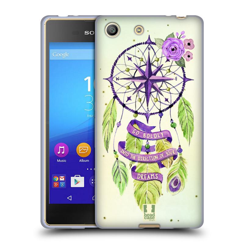 Silikonové pouzdro na mobil Sony Xperia M5 HEAD CASE Lapač Assorted Compass (Silikonový kryt či obal na mobilní telefon Sony Xperia M5 Dual SIM / Aqua)
