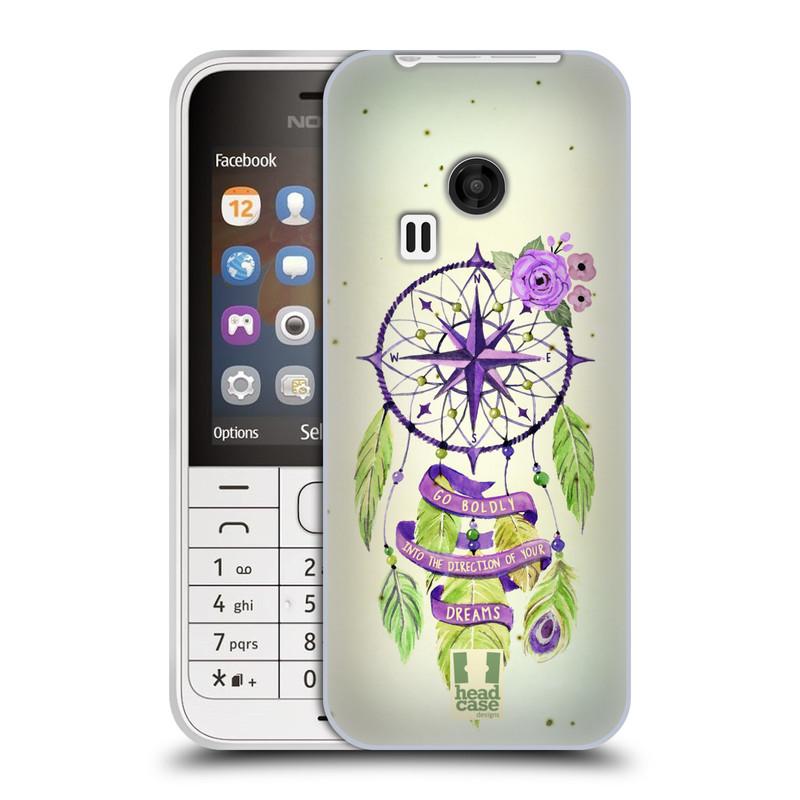 Silikonové pouzdro na mobil Nokia 220 HEAD CASE Lapač Assorted Compass (Silikonový kryt či obal na mobilní telefon Nokia 220 a 220 Dual SIM)