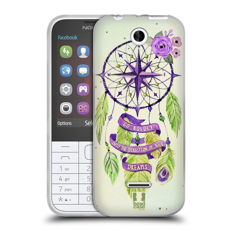 Silikonové pouzdro na mobil Nokia 225 HEAD CASE Lapač Assorted Compass (Silikonový kryt či obal na mobilní telefon Nokia 225)
