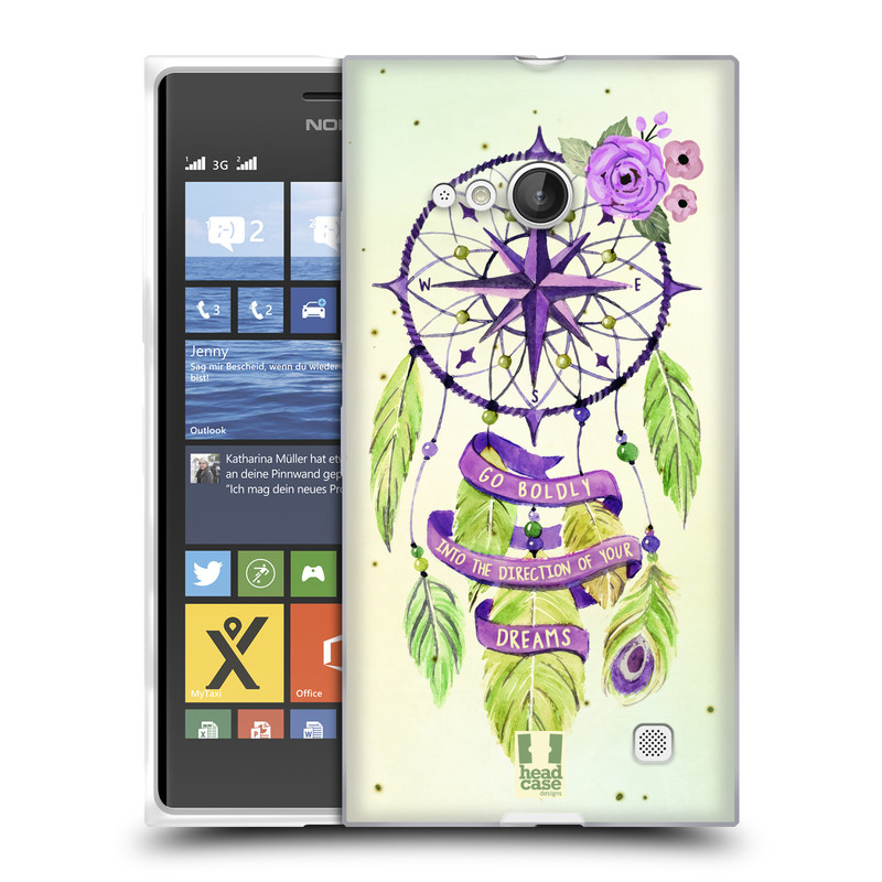 Silikonové pouzdro na mobil Nokia Lumia 730 Dual SIM HEAD CASE Lapač Assorted Compass (Silikonový kryt či obal na mobilní telefon Nokia Lumia 730 Dual SIM)