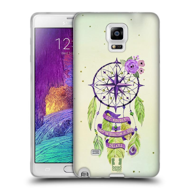 Silikonové pouzdro na mobil Samsung Galaxy Note 4 HEAD CASE Lapač Assorted Compass (Silikonový kryt či obal na mobilní telefon Samsung Galaxy Note 4 SM-N910F)