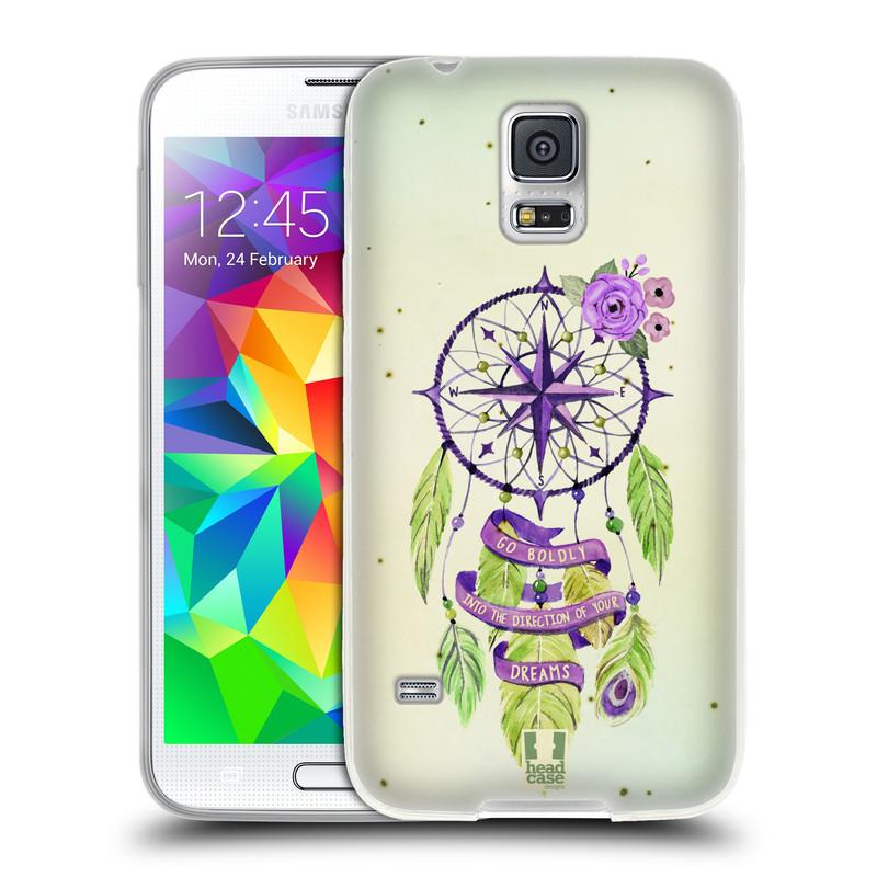 Silikonové pouzdro na mobil Samsung Galaxy S5 HEAD CASE Lapač Assorted Compass (Silikonový kryt či obal na mobilní telefon Samsung Galaxy S5 SM-G900F)