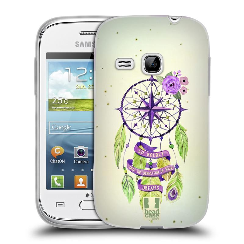 Silikonové pouzdro na mobil Samsung Galaxy Young HEAD CASE Lapač Assorted Compass (Silikonový kryt či obal na mobilní telefon Samsung Galaxy Young GT-S6310)