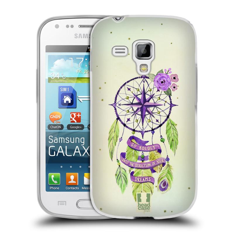 Silikonové pouzdro na mobil Samsung Galaxy Trend Plus HEAD CASE Lapač Assorted Compass (Silikonový kryt či obal na mobilní telefon Samsung Galaxy Trend Plus GT-S7580)