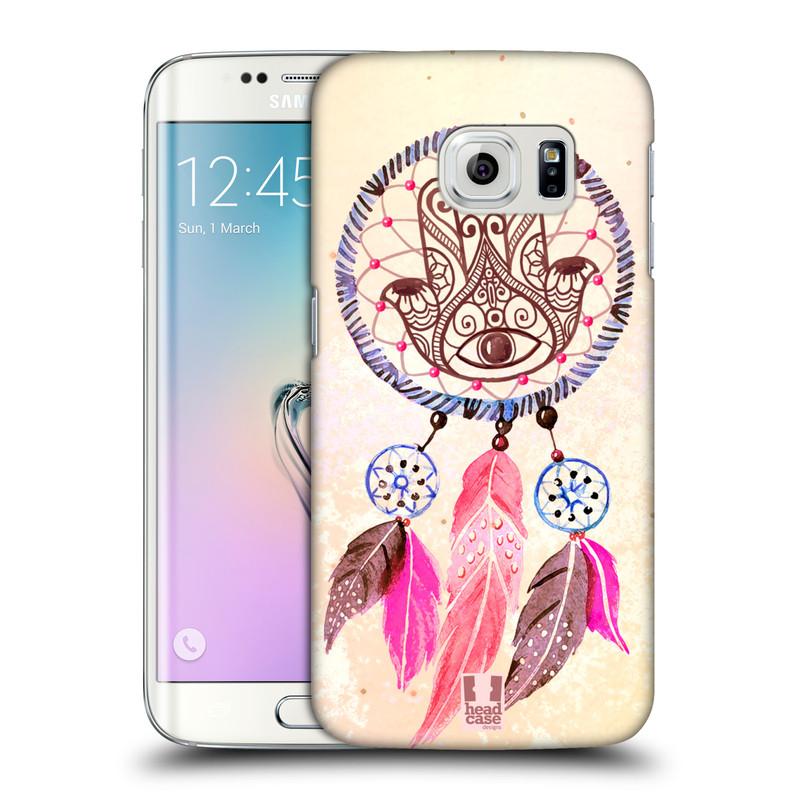 Plastové pouzdro na mobil Samsung Galaxy S6 Edge HEAD CASE Lapač Assorted Hamsa (Kryt či obal na mobilní telefon Samsung Galaxy S6 Edge SM-G925F)