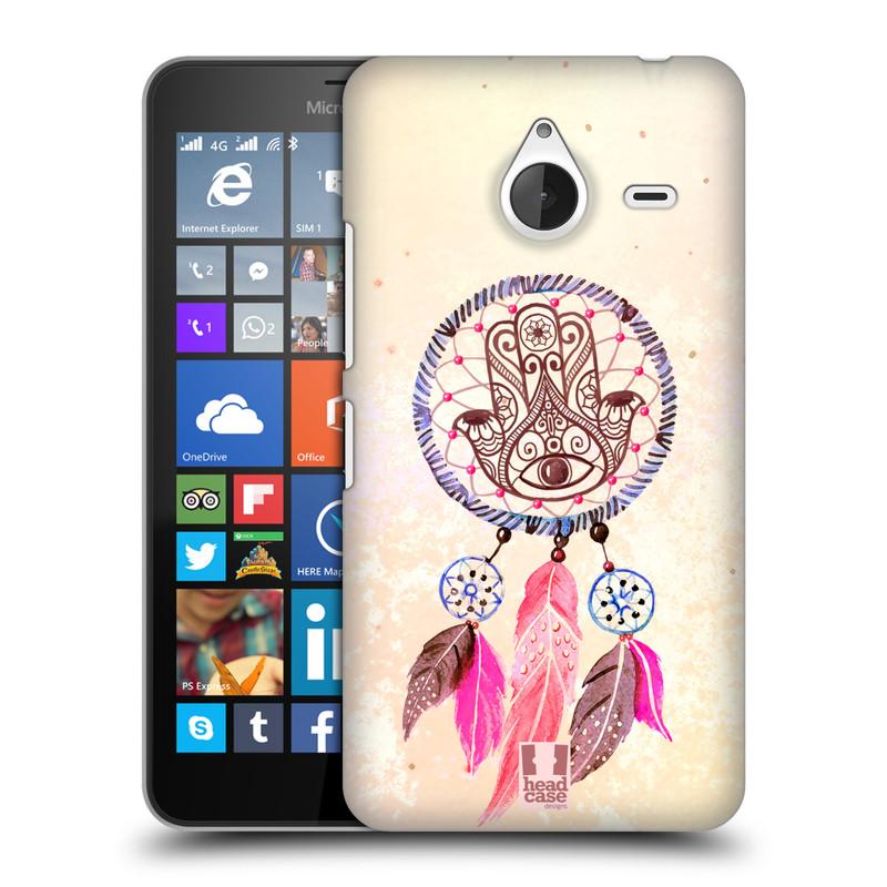Plastové pouzdro na mobil Microsoft Lumia 640 XL HEAD CASE Lapač Assorted Hamsa (Kryt či obal na mobilní telefon Microsoft Lumia 640 XL)