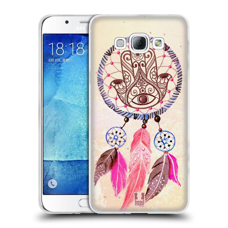 Silikonové pouzdro na mobil Samsung Galaxy A8 HEAD CASE Lapač Assorted Hamsa (Silikonový kryt či obal na mobilní telefon Samsung Galaxy A8 SM-A800)