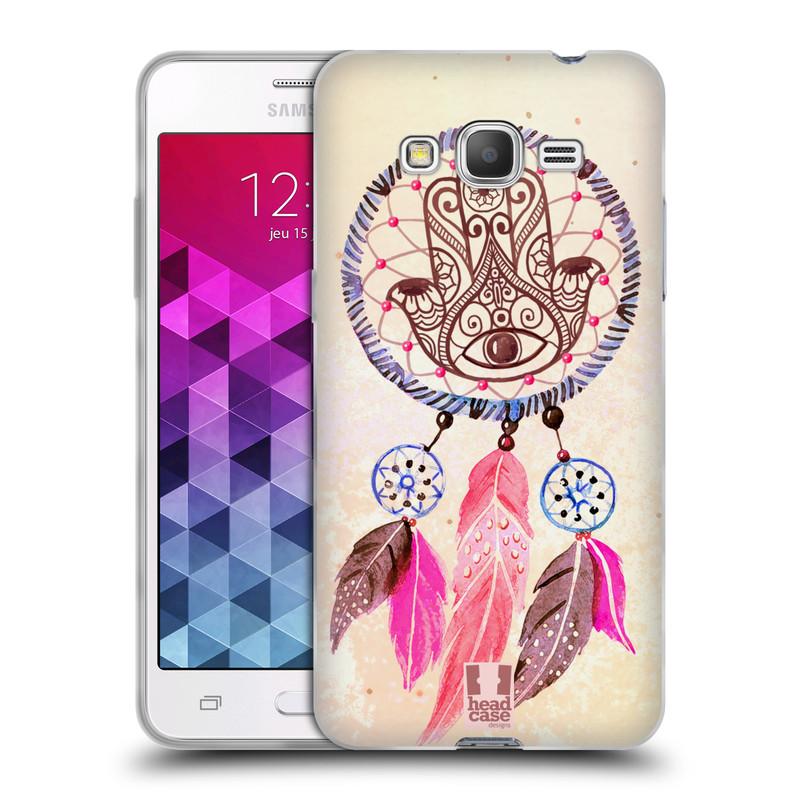 Silikonové pouzdro na mobil Samsung Galaxy Grand Prime HEAD CASE Lapač Assorted Hamsa (Silikonový kryt či obal na mobilní telefon Samsung Galaxy Grand Prime SM-G530)