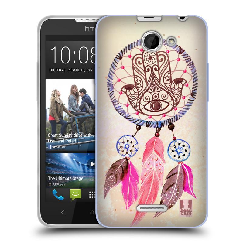 Silikonové pouzdro na mobil HTC Desire 516 HEAD CASE Lapač Assorted Hamsa (Silikonový kryt či obal na mobilní telefon HTC Desire 516 Dual SIM)