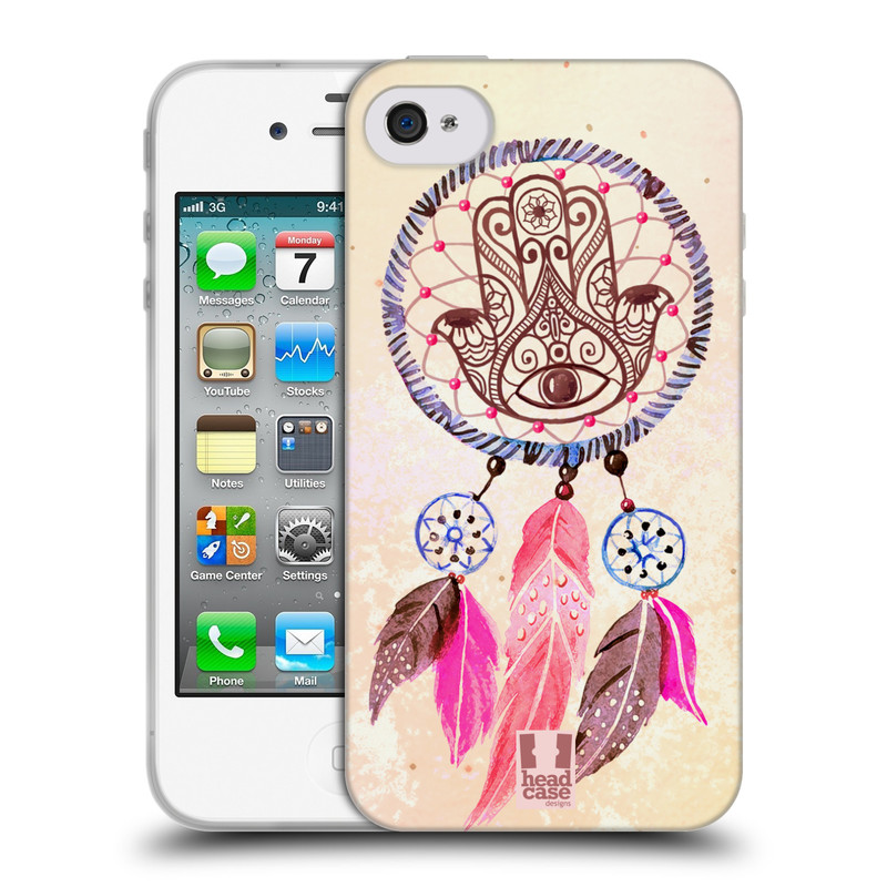 Silikonové pouzdro na mobil Apple iPhone 4 a 4S HEAD CASE Lapač Assorted Hamsa (Silikonový kryt či obal na mobilní telefon Apple iPhone 4 a 4S)