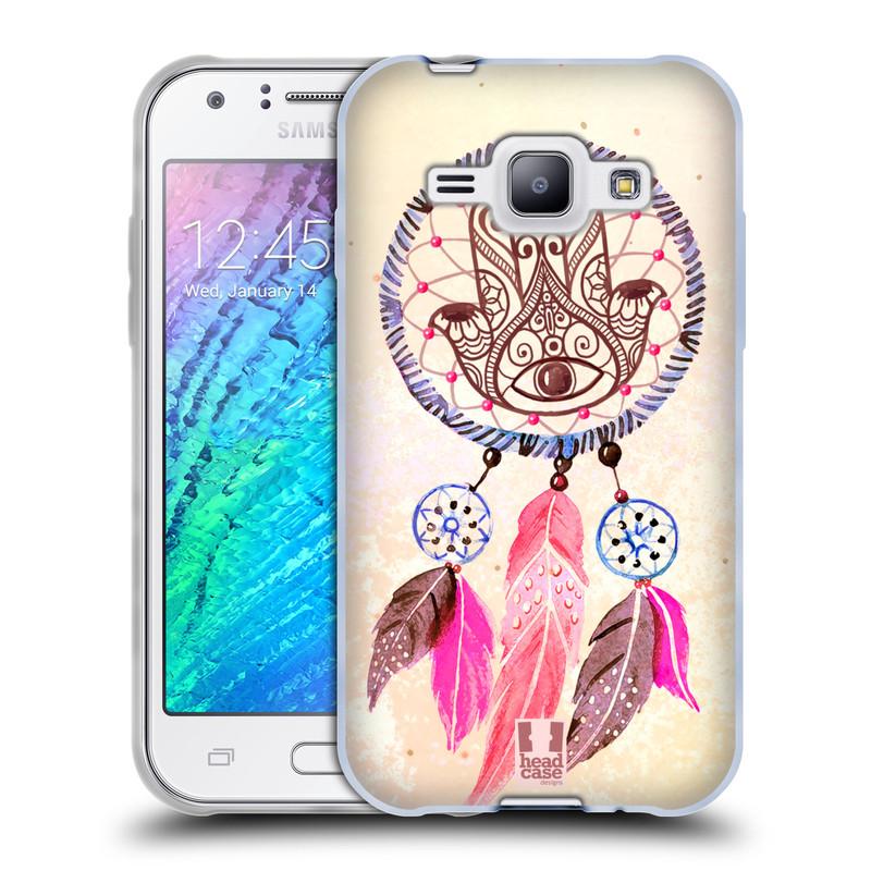 Silikonové pouzdro na mobil Samsung Galaxy J1 HEAD CASE Lapač Assorted Hamsa (Silikonový kryt či obal na mobilní telefon Samsung Galaxy J1 a J1 Duos)