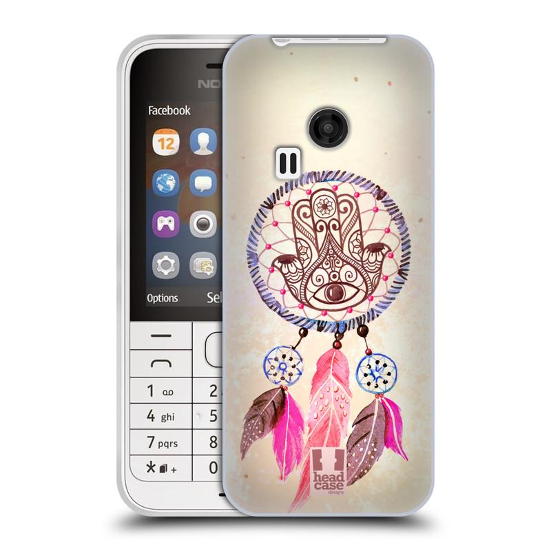 Silikonové pouzdro na mobil Nokia 220 HEAD CASE Lapač Assorted Hamsa (Silikonový kryt či obal na mobilní telefon Nokia 220 a 220 Dual SIM)