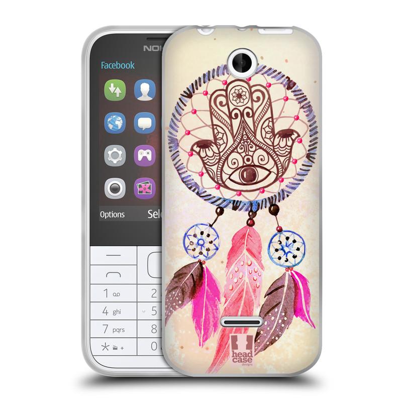 Silikonové pouzdro na mobil Nokia 225 HEAD CASE Lapač Assorted Hamsa (Silikonový kryt či obal na mobilní telefon Nokia 225)