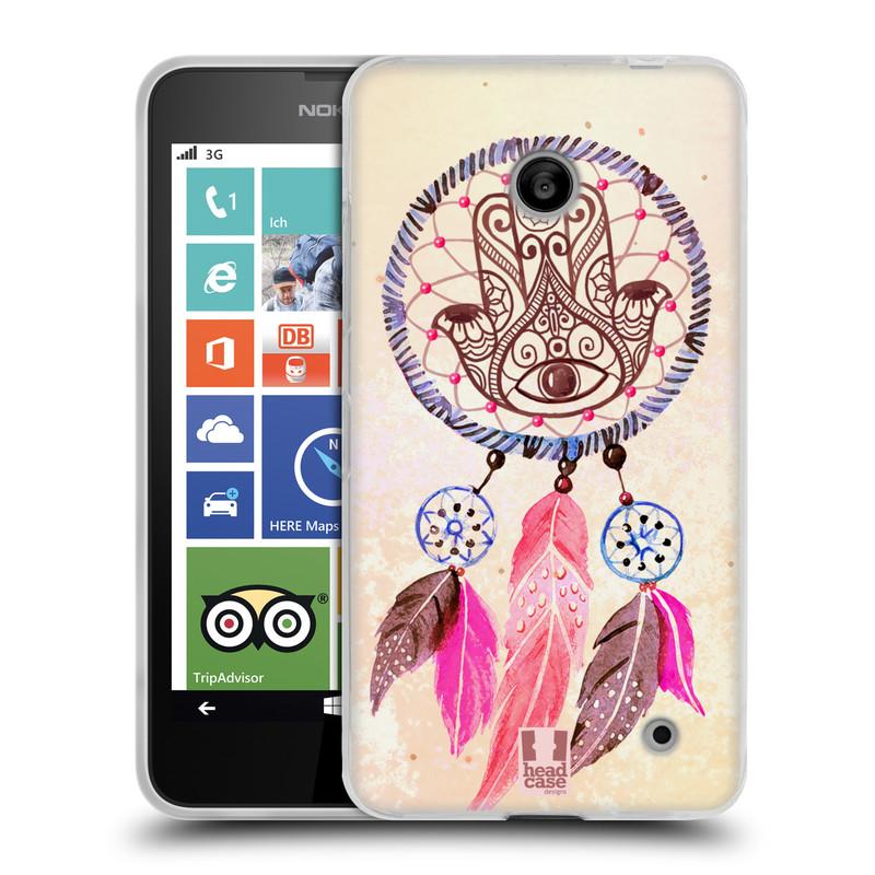 Silikonové pouzdro na mobil Nokia Lumia 630 HEAD CASE Lapač Assorted Hamsa (Silikonový kryt či obal na mobilní telefon Nokia Lumia 630 a Nokia Lumia 630 Dual SIM)