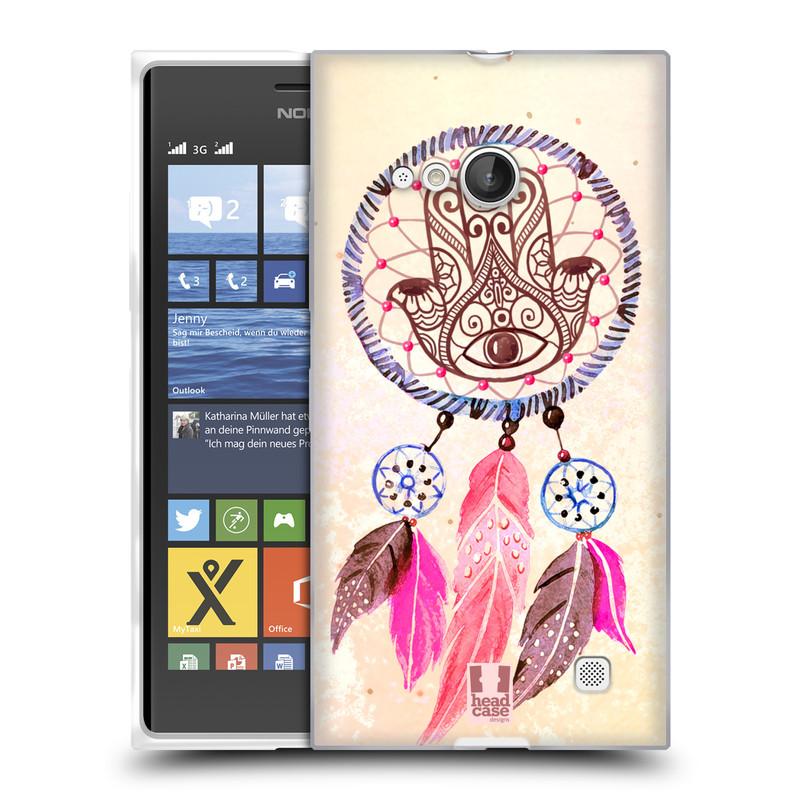 Silikonové pouzdro na mobil Nokia Lumia 730 Dual SIM HEAD CASE Lapač Assorted Hamsa (Silikonový kryt či obal na mobilní telefon Nokia Lumia 730 Dual SIM)
