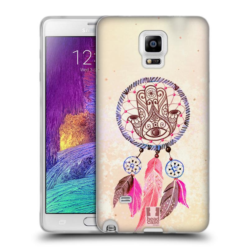 Silikonové pouzdro na mobil Samsung Galaxy Note 4 HEAD CASE Lapač Assorted Hamsa (Silikonový kryt či obal na mobilní telefon Samsung Galaxy Note 4 SM-N910F)