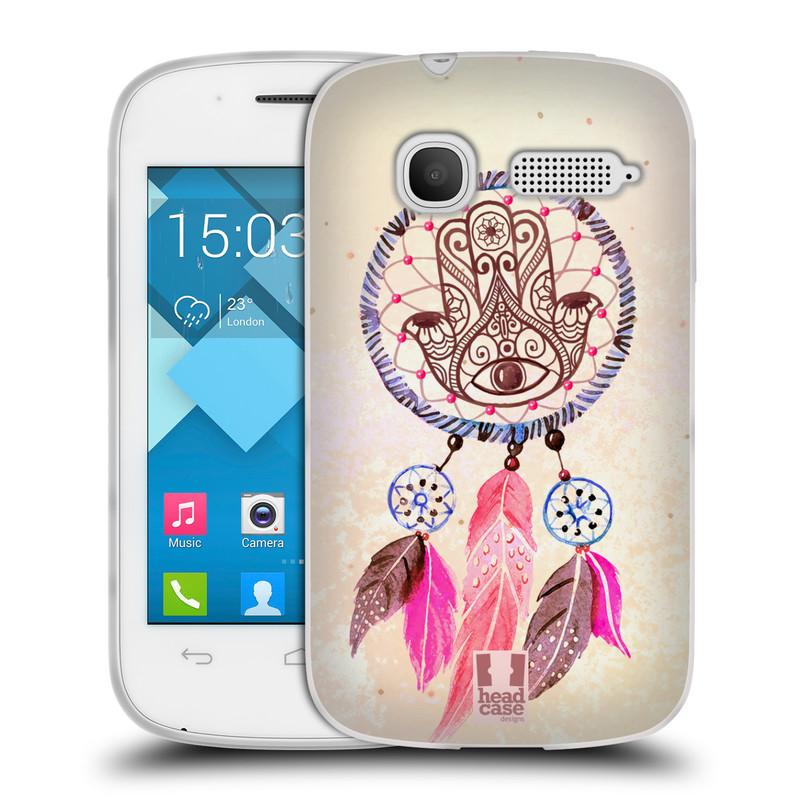 Silikonové pouzdro na mobil Alcatel One Touch Pop C1 HEAD CASE Lapač Assorted Hamsa (Silikonový kryt či obal na mobilní telefon Alcatel OT-4015D POP C1)