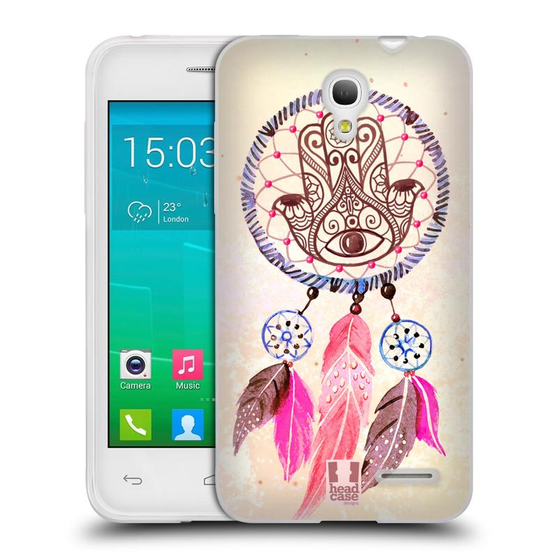 Silikonové pouzdro na mobil Alcatel One Touch Pop S3 HEAD CASE Lapač Assorted Hamsa (Silikonový kryt či obal na mobilní telefon Alcatel OT- 5050Y POP S3)
