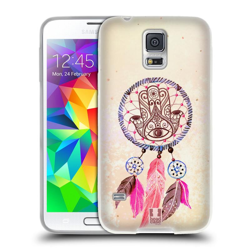 Silikonové pouzdro na mobil Samsung Galaxy S5 HEAD CASE Lapač Assorted Hamsa (Silikonový kryt či obal na mobilní telefon Samsung Galaxy S5 SM-G900F)