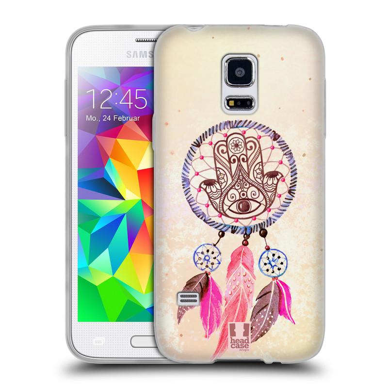 Silikonové pouzdro na mobil Samsung Galaxy S5 Mini HEAD CASE Lapač Assorted Hamsa (Silikonový kryt či obal na mobilní telefon Samsung Galaxy S5 Mini SM-G800F)